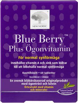 New Nordic Blue Berry Plus Tablett, 60 st