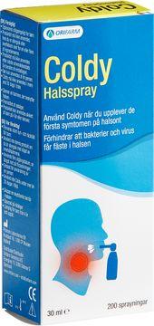 Coldy Halsspray Munspray mot halsont, 30 ml