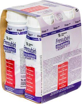 Fresubin Thickened Stage 1 drickfärdigt  kosttillägg, smultron 4 x 200 milliliter