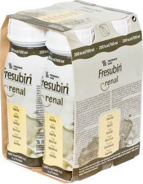 Fresubin renal sondnäring och drickfärdigt kosttillägg, vanilj 4 x 200 milliliter