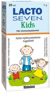 Vitabalans Lacto Seven Kids Tablett, 20 st