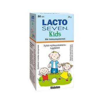 Vitabalans Lacto Seven Kids Tuggtablett, 50 st