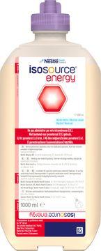 Isosource Energy sondnäring, förpackning Smart Flex 9 x 1000 milliliter