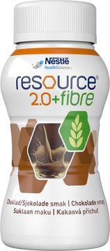 Resource 2,0 + fibre drickfärdigt, komplett kosttillägg, choklad 4 x 200 milliliter