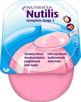 Nutilis Complete stage 2 komplett kosttillägg, jordgubb 4 x 125 gram