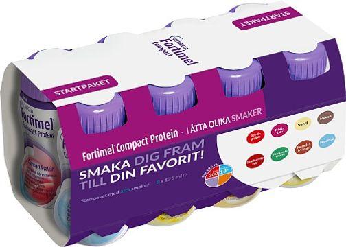 Fortimel Compact Protein Startpaket åtta smaker. 125 ml. 8 st