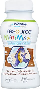 Resource MiniMax MiniMax drickfärdigt kosttillägg, choklad 2 x 200 milliliter