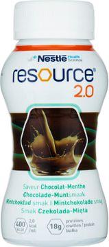 Resource 2,0 drickfärdigt, komplett kosttillägg, mintchoklad 4 x 200 milliliter