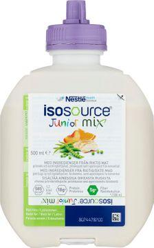 Isosource Junior Mix sondnäring för barn, neutral 12 x 500 milliliter
