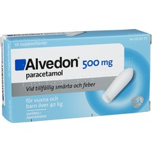 Alvedon - Suppositorium 500 mg Paracetamol 10 styck