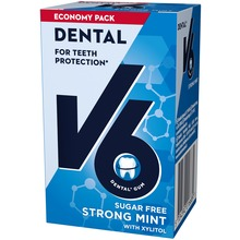 V6 Dental Care tuggummi - Strong Mint. 50 st