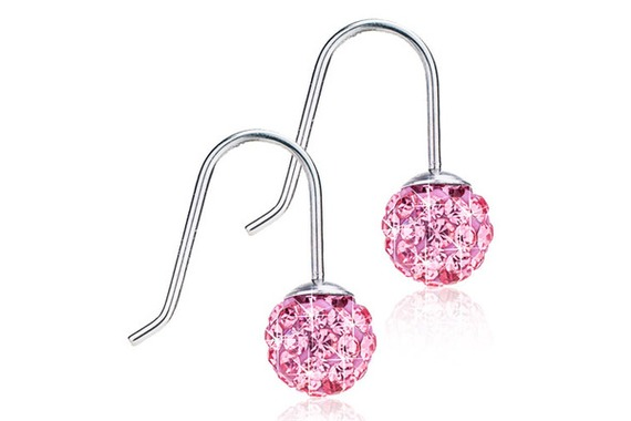NT M Pend Crystal Ball 6mm L Rose