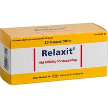 Relaxit - Suppositorium 20 styck