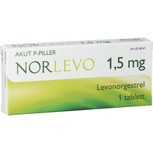NorLevo - Tablett 1,5 mg Levonorgestrel 1 tablett(er)