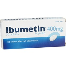 Ibumetin - Tablett 400 mg Ibuprofen 30 tablett(er)