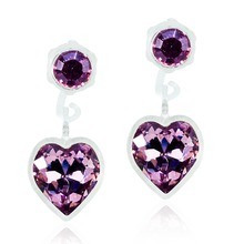 Blomdahl - MP Pend Heart Light Amethyst 4/6mm par