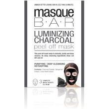 MasqueBar - Luminizing Charcoal Peel Off Mask 3x10ml
