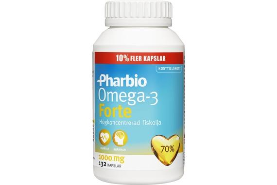 Pharbio Omega 3 Forte Kosttillskott med högkoncentrerad fiskolja