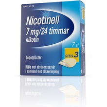 Nicotinell - Depotplåster 7 mg/24 timmar, 7 st