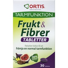 Frukt & Fibrer - Främjar normal tarmfunktion 30 tabl