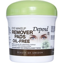 Depend - Eye make-up remover pads Oil-free 1 st