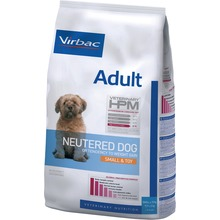 Virbac Veterinary HPM Adult Dog Neutered Small & Toy - Friskfoder till kasterade vuxna små hundar. 7kg.