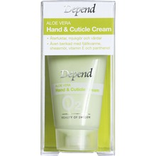 Depend O2 Aloe Vera Hand & Cuticle Cream - Hand- och nagelbandskräm, 25 ml