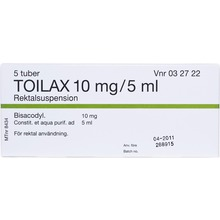 Toilax - Rektalsuspension 10 mg/5 ml 5 x 5 milliliter