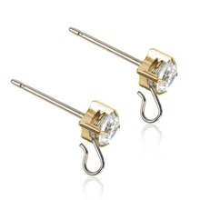 Blomdahl - GT Safety Ear Pin 5mm CZ White par