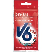 V6 - Dental Strawberry Mint tuggummi 30 G