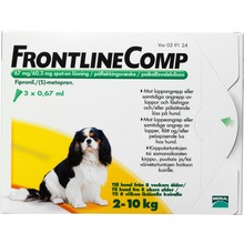 Frontline Comp Comp - Spot-on, lösning 67 mg/60,3 mg 3 x 0,67 milliliter