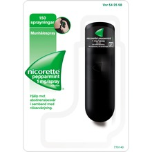 Nicorette Pepparmint - Munhålespray, lösning 1 mg/spray, 150 doser