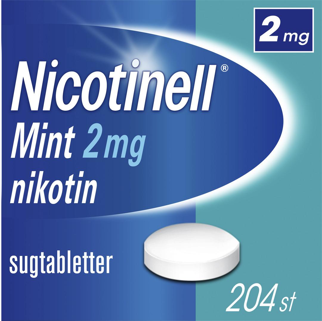 Nicotinell Mint Komprimerad sugtablett med nikotin, 2 mg, 204 st