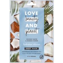 Love Beauty and Planet sheet mask - Kokosvatten och mimosablomma