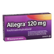 Allegra - Filmdragerad tablett 120 mg Fexofenadin 10 tablett(er)