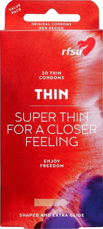 RFSU Thin Kondom, thin 30-pack