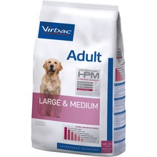 Virbac Veterinary HPM Adult Dog Large & Medium - Friskfoder till vuxna L/M hundar 12 KG