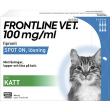 Frontline vet. Vet - Spot-on, lösning 100 mg/ml 6 x 0,5 milliliter