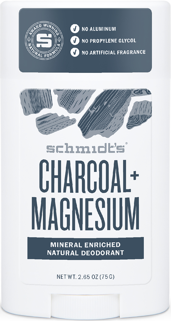 Schmidt's Deo stick Charcoal & Magnesium Deodorant. 75 g