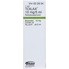Toilax - Rektalsuspension 10 mg/5 ml 5 milliliter