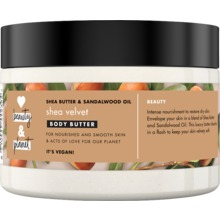 Love Beauty and Planet body butter - Sheasmör och sandelträ. 250 ml