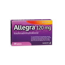 Allegra - Filmdragerad tablett 120 mg Fexofenadin 30 tablett(er)