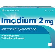 Imodium - Tablett 2 mg Loperamid 16 styck