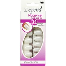 Depend - Nagel set square design m rosa lim 1st