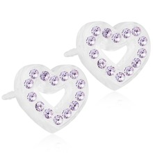 Blomdahl - BM MP Br Heart Hollow 10mm Violet par