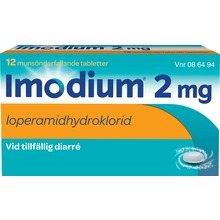 Imodium - Munsönderfallande tablett 2 mg 12 tablett(er)