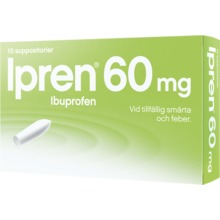Ipren - Suppositorium 60 mg 10 suppositorium/suppositorier