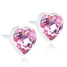 Blomdahl - MP Heart Light Rose 6mm par