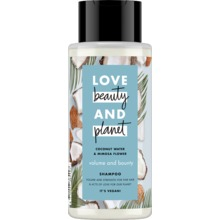 Love Beauty and Planet schampo - Kokosvatten och mimosablomma. 400 ml