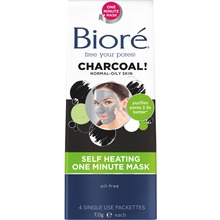 Bioré - Self-Heating One Minute Mask 4 st